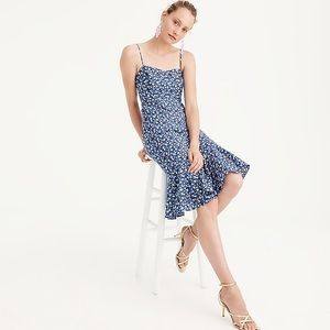 J Crew Liberty Print Ruffle Hem Dress